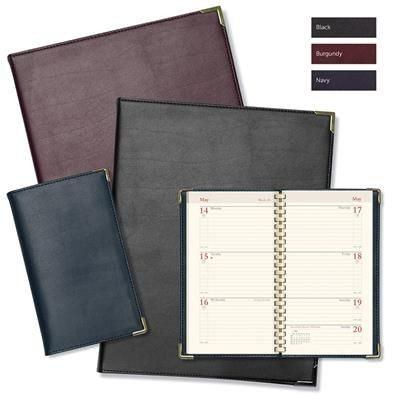 Picture of OXFORD EXECUTIVE REAL LEATHER SPIRAL COMB BOUND DIARY