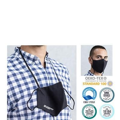 Picture of PREMIUM VIRUS BLOCKING REUSABLE FACE COVERING with Lanyard