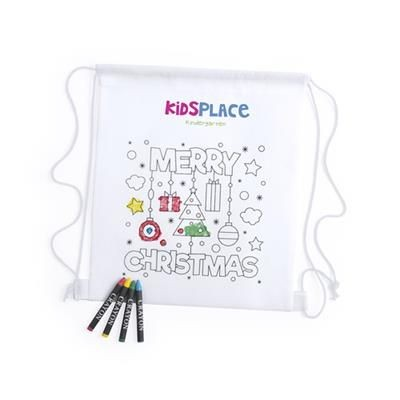 Picture of COLOUR IT YOURSELF CHRISTMAS BAG