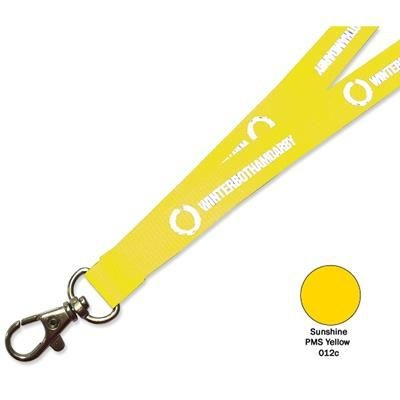 Picture of FLAT POLYESTER LANYARD in Sunshine Yellow