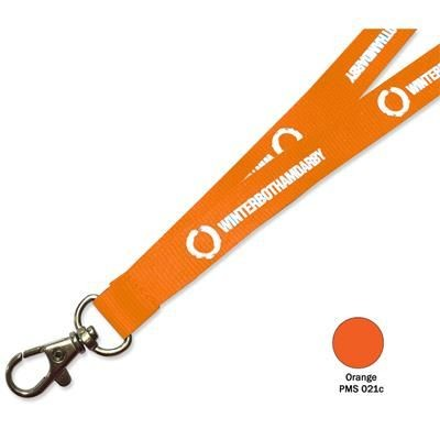 Picture of FLAT POLYESTER LANYARD in Orange