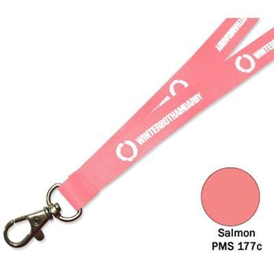 Picture of FLAT POLYESTER LANYARD in Salmon