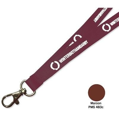 Picture of FLAT POLYESTER LANYARD in Maroon