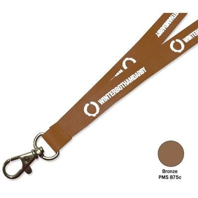Picture of FLAT POLYESTER LANYARD in Bronze