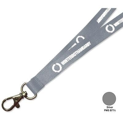 Picture of FLAT POLYESTER LANYARD in Silver
