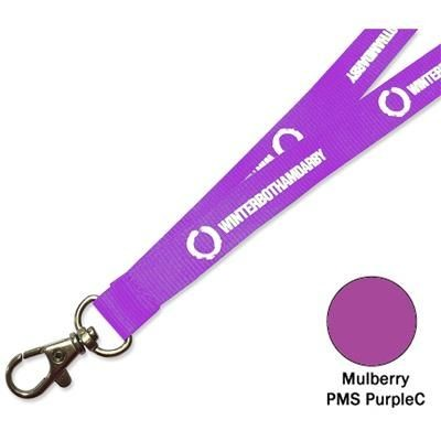 Picture of FLAT POLYESTER LANYARD in Mulberry