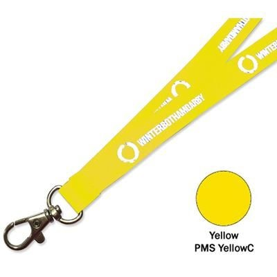 Picture of FLAT POLYESTER LANYARD in Yellow