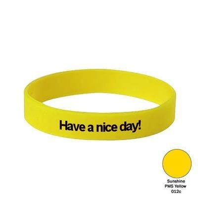 Picture of SILICON WRIST BAND in Sunshine Yellow