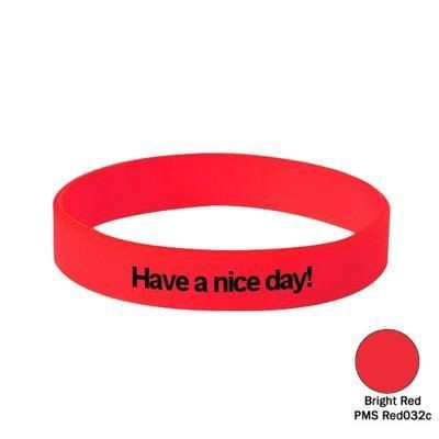 Picture of SILICON WRIST BAND in Bright Red
