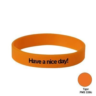 Picture of SILICON WRIST BAND in Tiger Orange