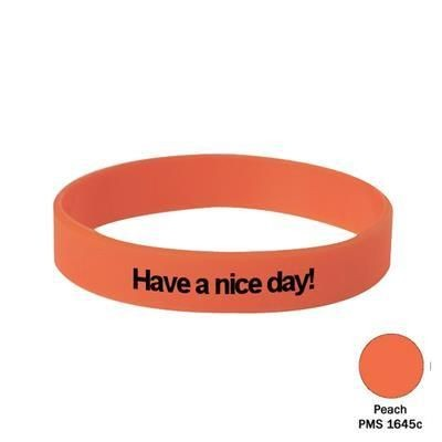 Picture of SILICON WRIST BAND in Peach