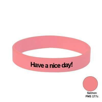 Picture of SILICON WRIST BAND in Salmon Pink