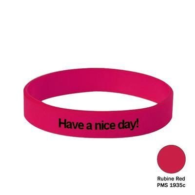 Picture of SILICON WRIST BAND in Rubine Red
