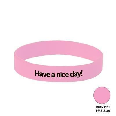 Picture of SILICON WRIST BAND in Baby Pink