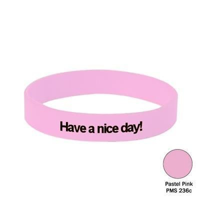 Picture of SILICON WRIST BAND in Pastel Pink