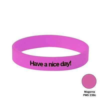 Picture of SILICON WRIST BAND in Magenta