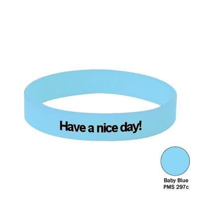 Picture of SILICON WRIST BAND in Baby Blue