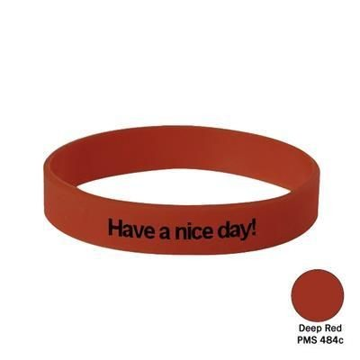 Picture of SILICON WRIST BAND in Deep Red