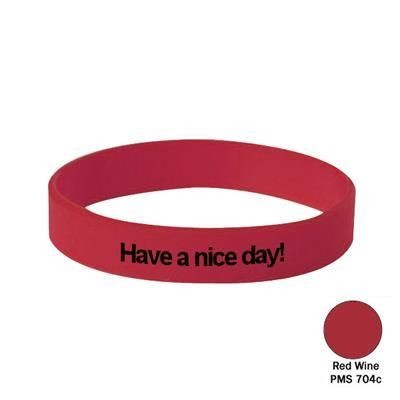 Picture of SILICON WRIST BAND in Red Wine