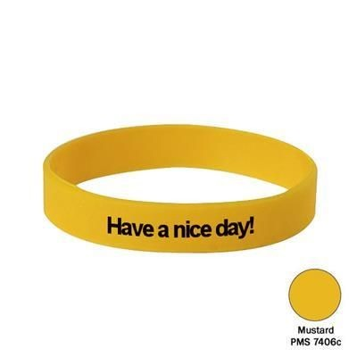 Picture of SILICON WRIST BAND in Mustard Yellow