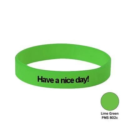 Picture of SILICON WRIST BAND in Lime Green