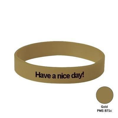 Picture of SILICON WRIST BAND in Gold
