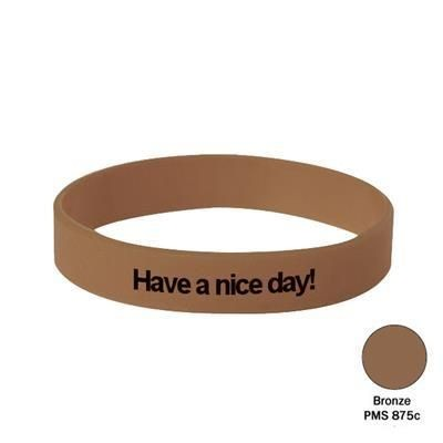 Picture of SILICON WRIST BAND in Bronze