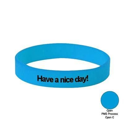 Picture of SILICON WRIST BAND in Cyan
