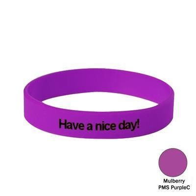 Picture of SILICON WRIST BAND in Mulberry Purple