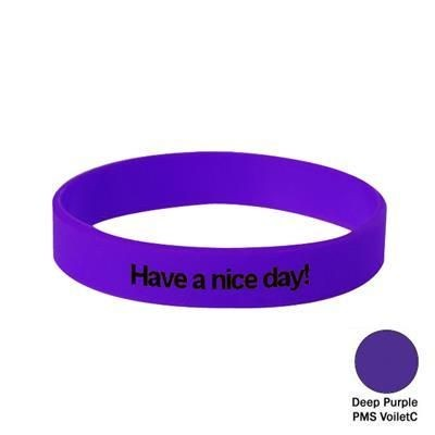 Picture of SILICON WRIST BAND in Deep Purple Choice of Adult, Youth or Child Size Wristbands