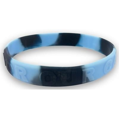 Picture of MULTI COLOUR EMBOSSED SILICON WRIST BAND