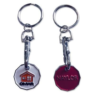 Picture of TROLLEY COIN KEYRING - ENAMELLED
