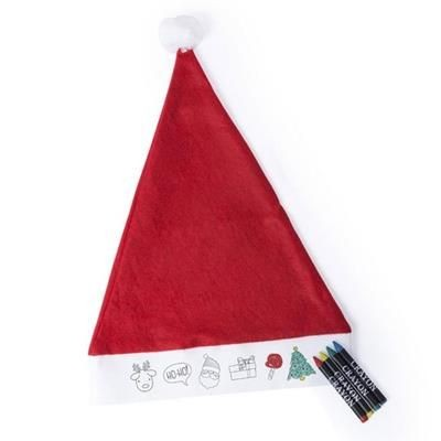 Picture of COLOUR-IT-YOURSELF FATHER CHRISTMAS SANTA HAT