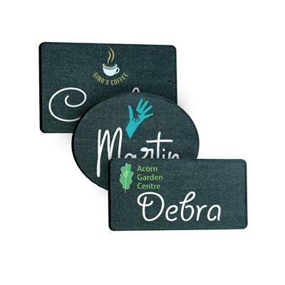 Picture of BAMBOO BLACKBOARD REUSABLE NAME BADGE
