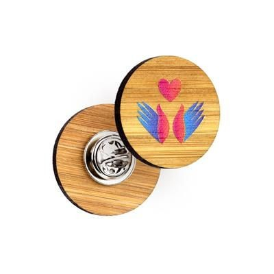 Picture of BAMBOO CLUTCH PIN BADGE BESPOKE
