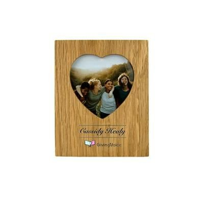 Picture of OAK HEART PHOTO FRAME