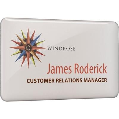 Picture of METAL FACED PERSONALISED NAME BADGE