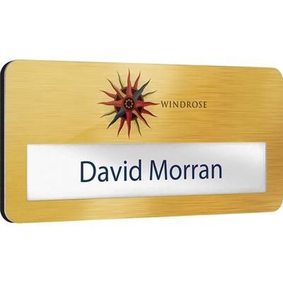 Picture of METAL FACED WINDOW NAME BADGE