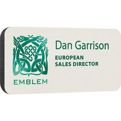 Picture of BESPOKE SPOT COLOUR PERSONALISED PLASTIC NAME BADGE