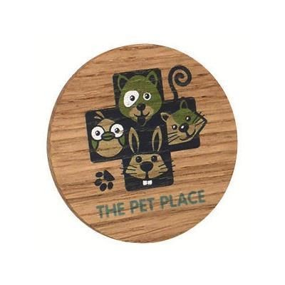 Picture of REAL WOOD PROMOTIONAL BADGE ENGRAVED