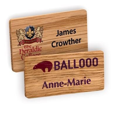 Picture of REAL WOOD PERSONALISED NAME BADGE