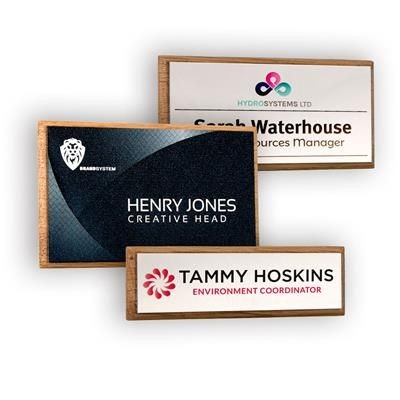 Picture of REAL WOOD FRAMED NAME BADGE