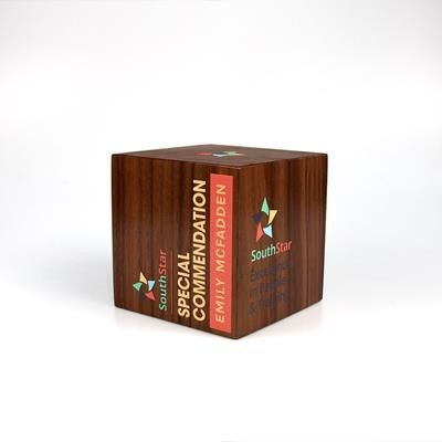 Picture of REAL WOOD CUBE AWARD with Square Edges