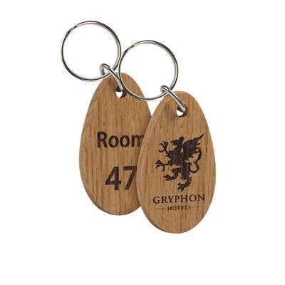 Picture of REAL WOOD KEYRING - SINGLE SIDED