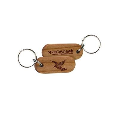 Picture of REAL WOOD KEYRING - DOUBLE SIDED