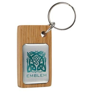 Picture of REAL WOOD KEYRING with Domed Metal Insert