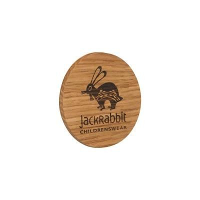 Picture of REAL WOOD PROMOTIONAL BADGE PRINTED