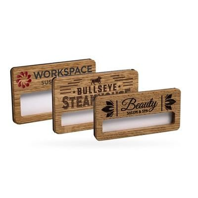 Picture of REUSABLE WOOD FACED WINDOW BADGE PRINTED