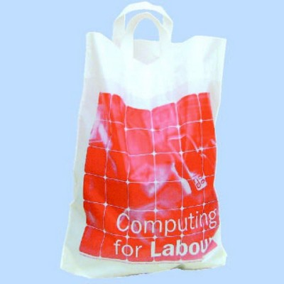 Picture of FLEXI LOOP HANDLE POLYTHENE PLASTIC CARRIER BAG