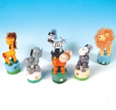 Picture of SAFARI PRESS UP WOOD TOY